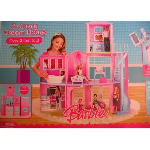 Barbiestory Dream House on Barbie 3 Story Dream House Playset  2008