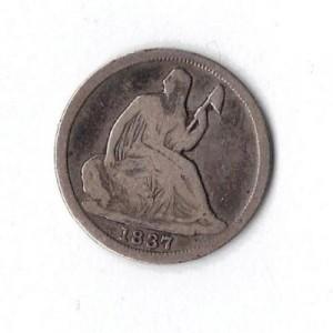 1837seatedlibertyhalfdime#1